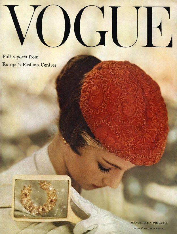British Vogue Cover March 1954