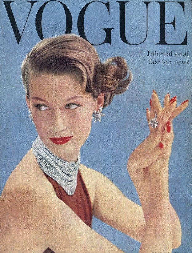 British Vogue Cover March 1955