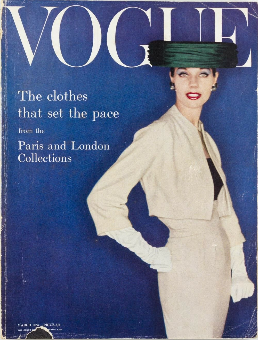British Vogue Cover March 1956