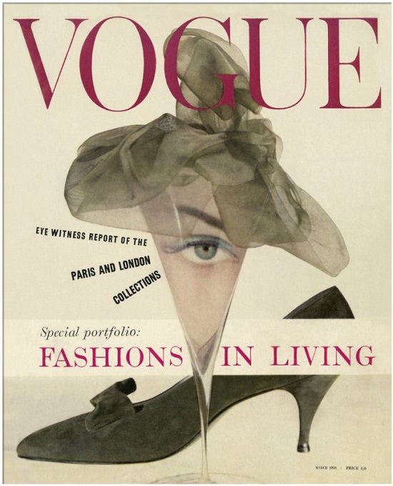 British Vogue Cover March 1958