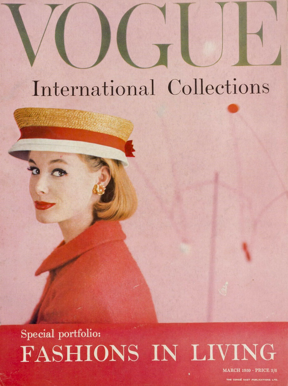 British Vogue Cover March 1959