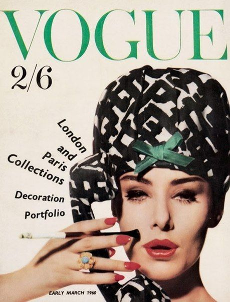 British Vogue Cover March 1960