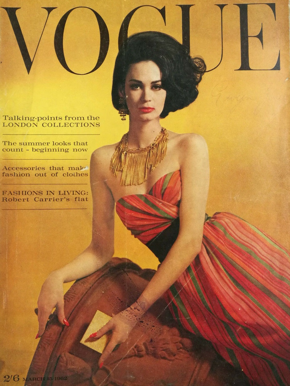 British Vogue Cover March 1962
