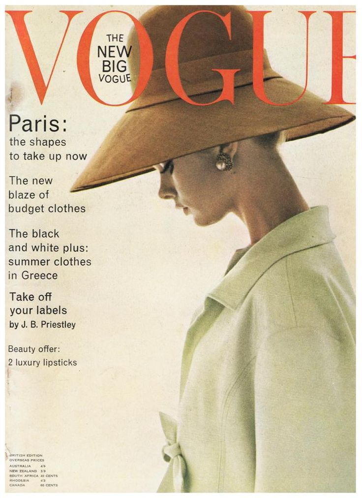 British Vogue Cover March 1963