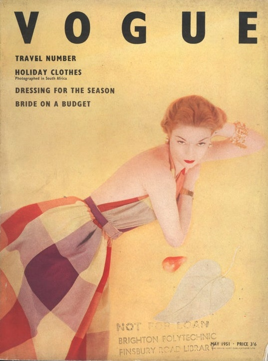 British Vogue Cover May 1951