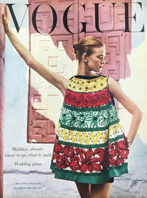 British Vogue Cover May 1954