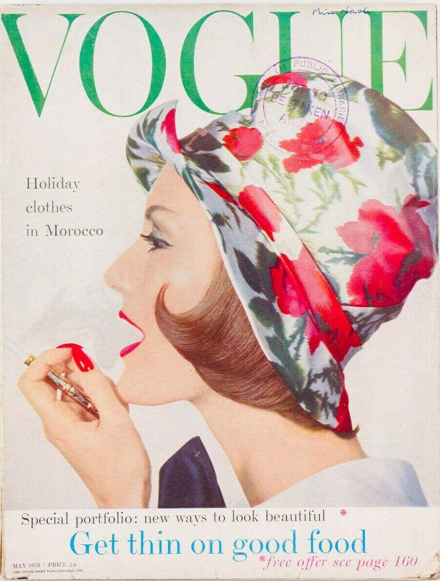 British Vogue Cover May 1958