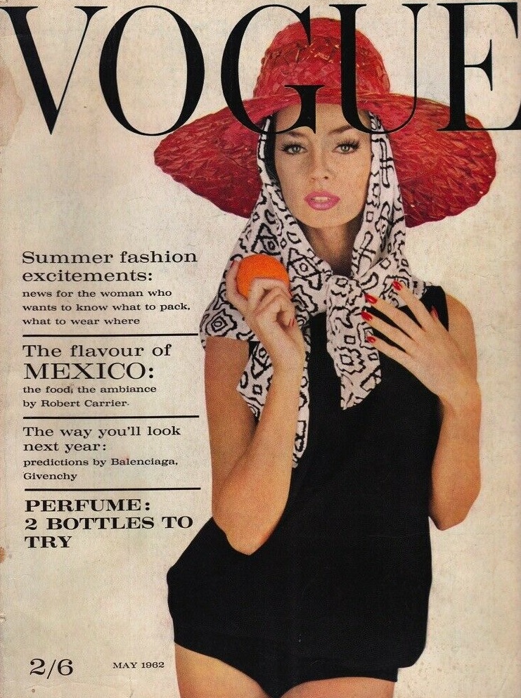 British Vogue Cover May 1962