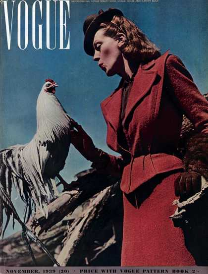 British Vogue Cover November 1939