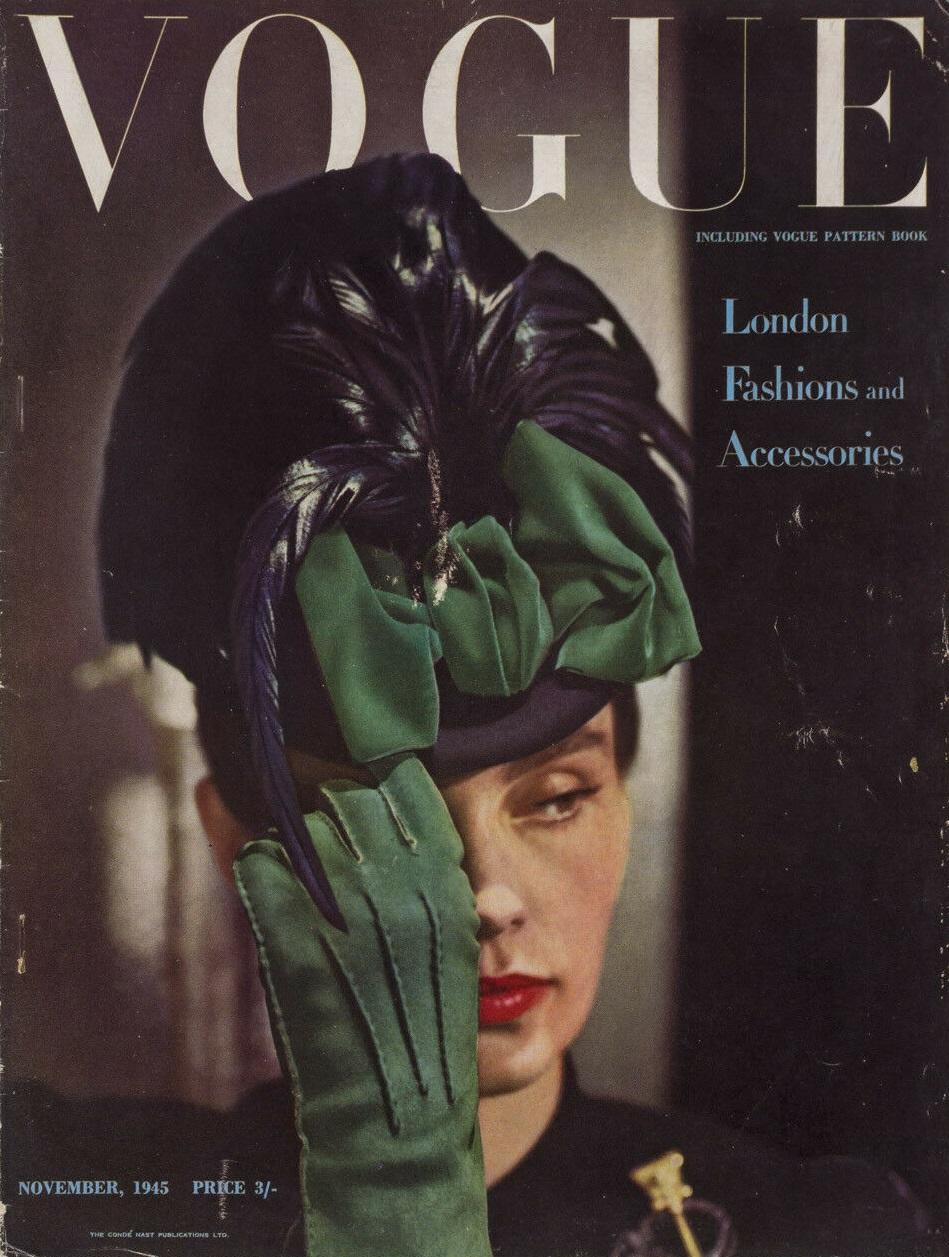 British Vogue Cover November 1945
