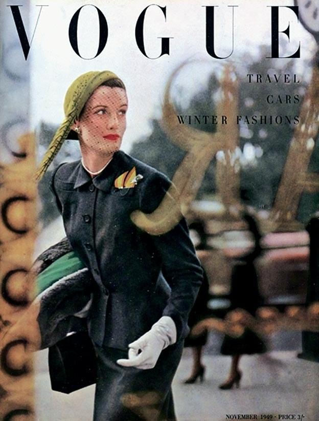 British Vogue Cover November 1949