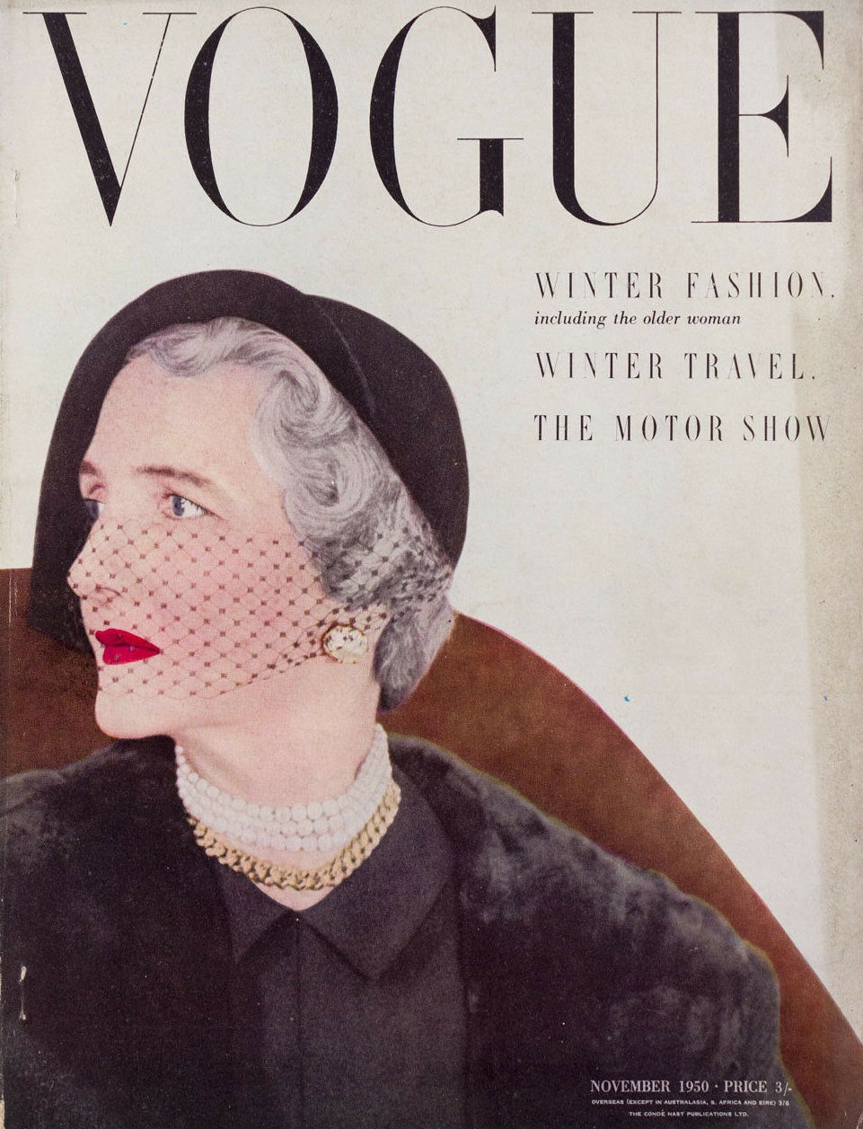 British Vogue Cover November 1950