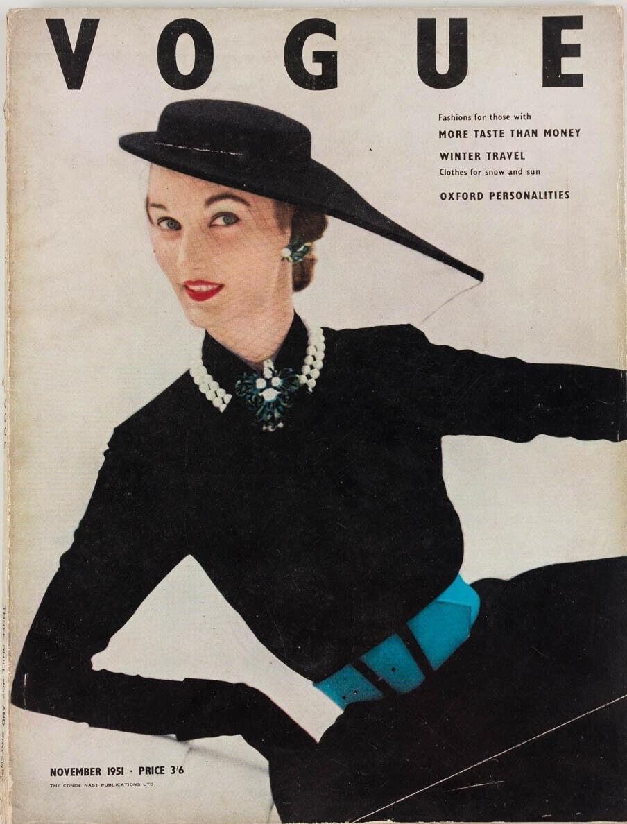 British Vogue Cover November 1951