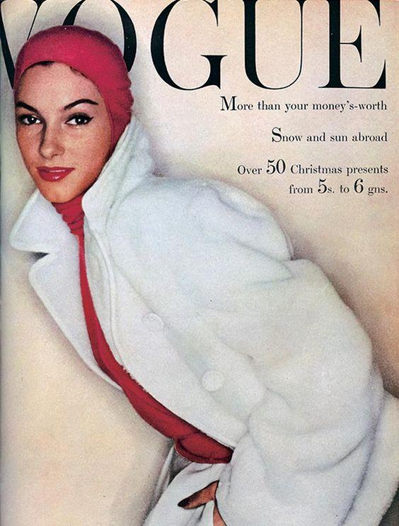 British Vogue Cover November 1954