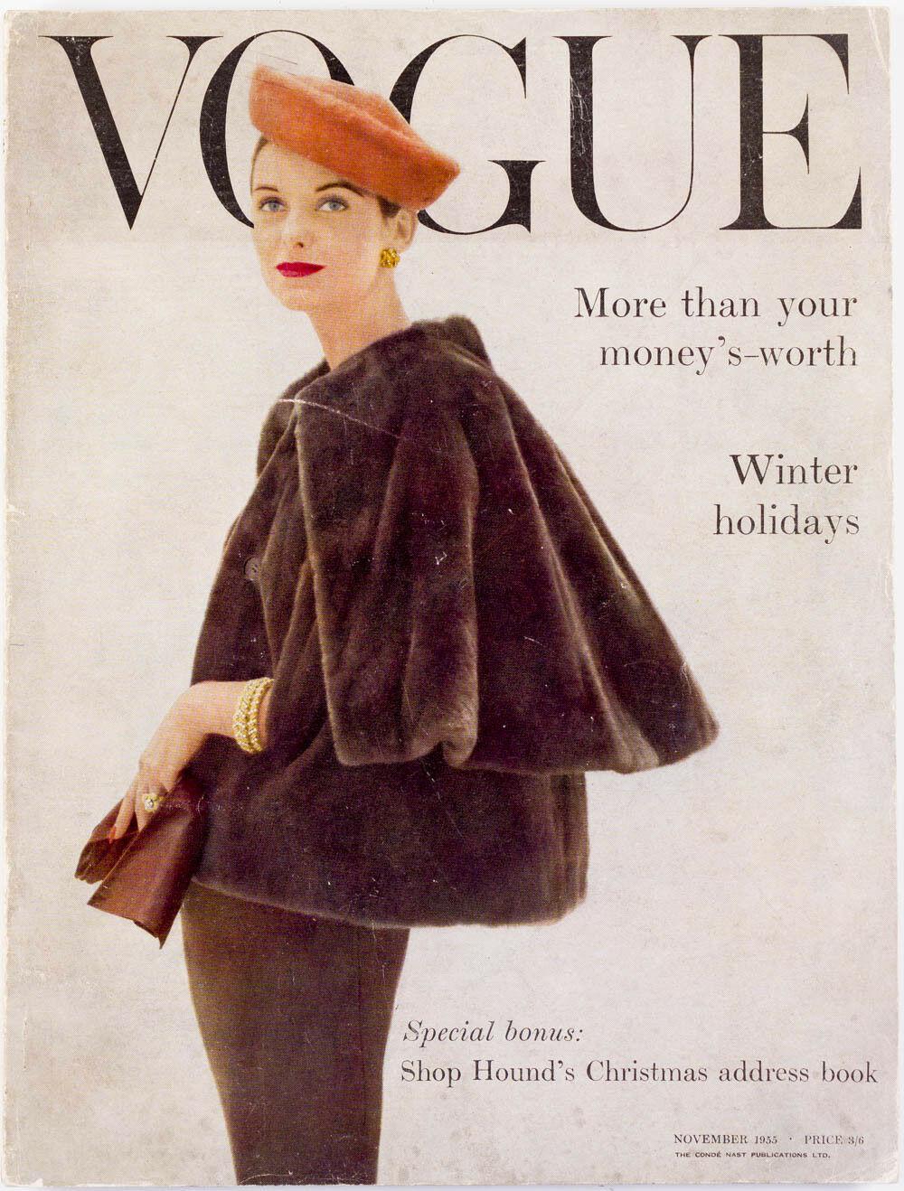 British Vogue Cover November 1955