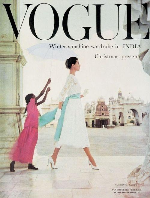 British Vogue Cover November 1956