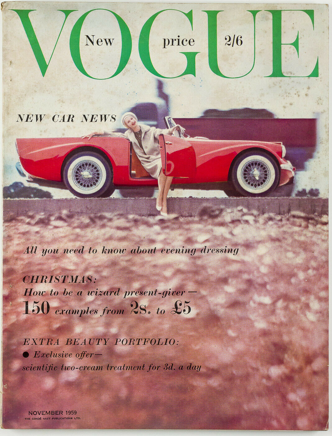 British Vogue Cover November 1959