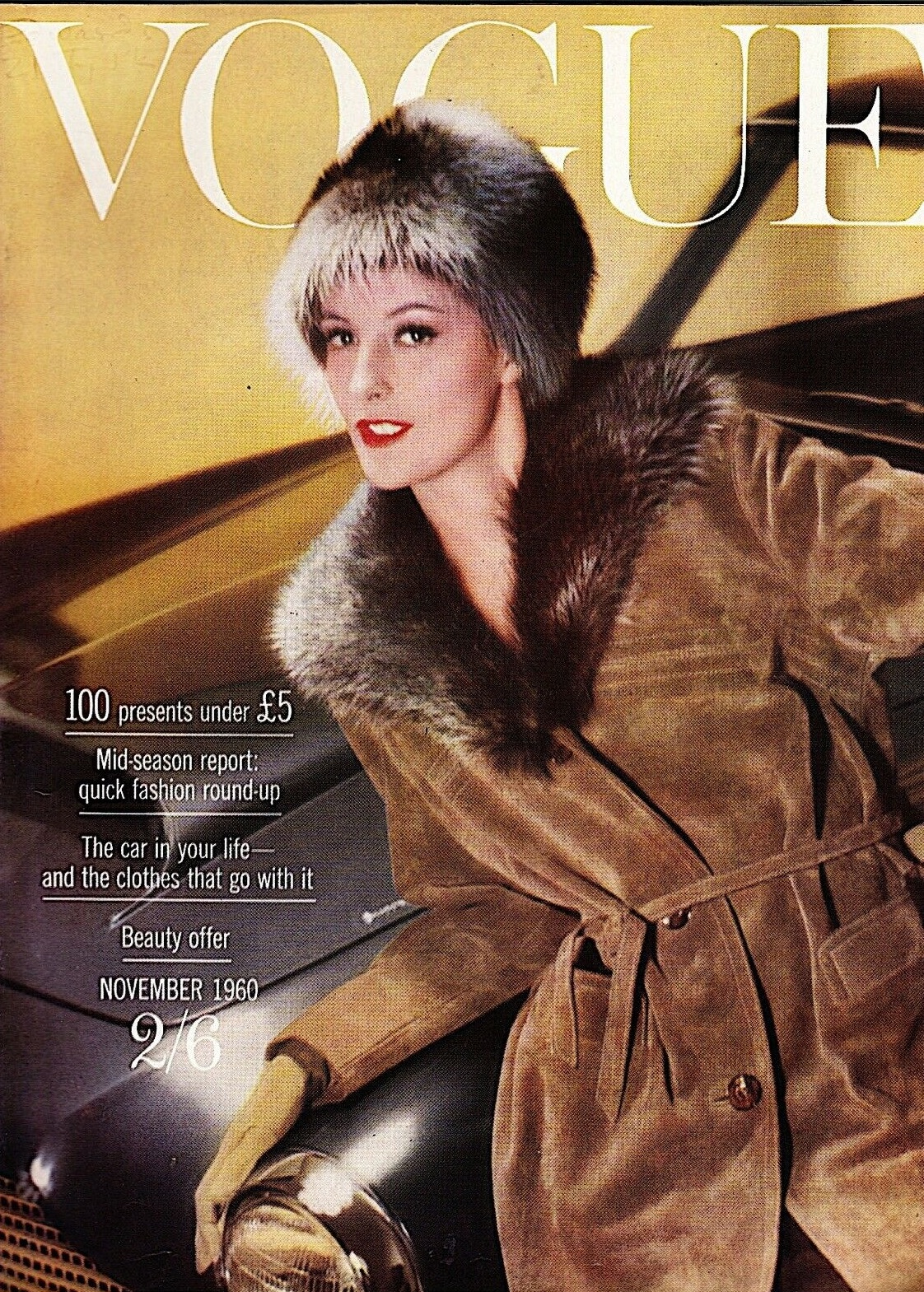 British Vogue Cover November 1960