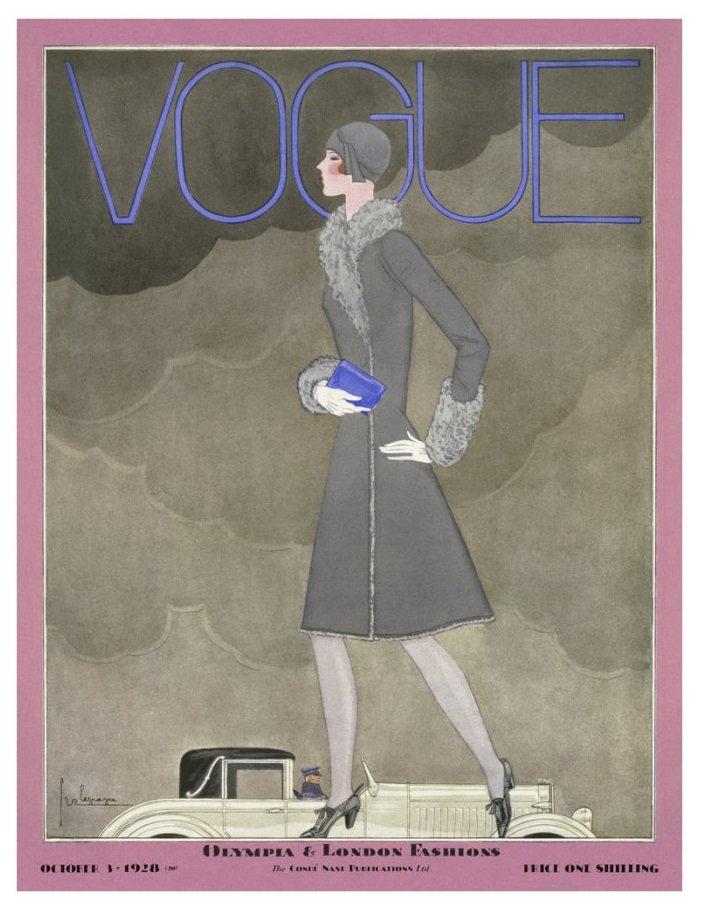British Vogue Cover October 1928