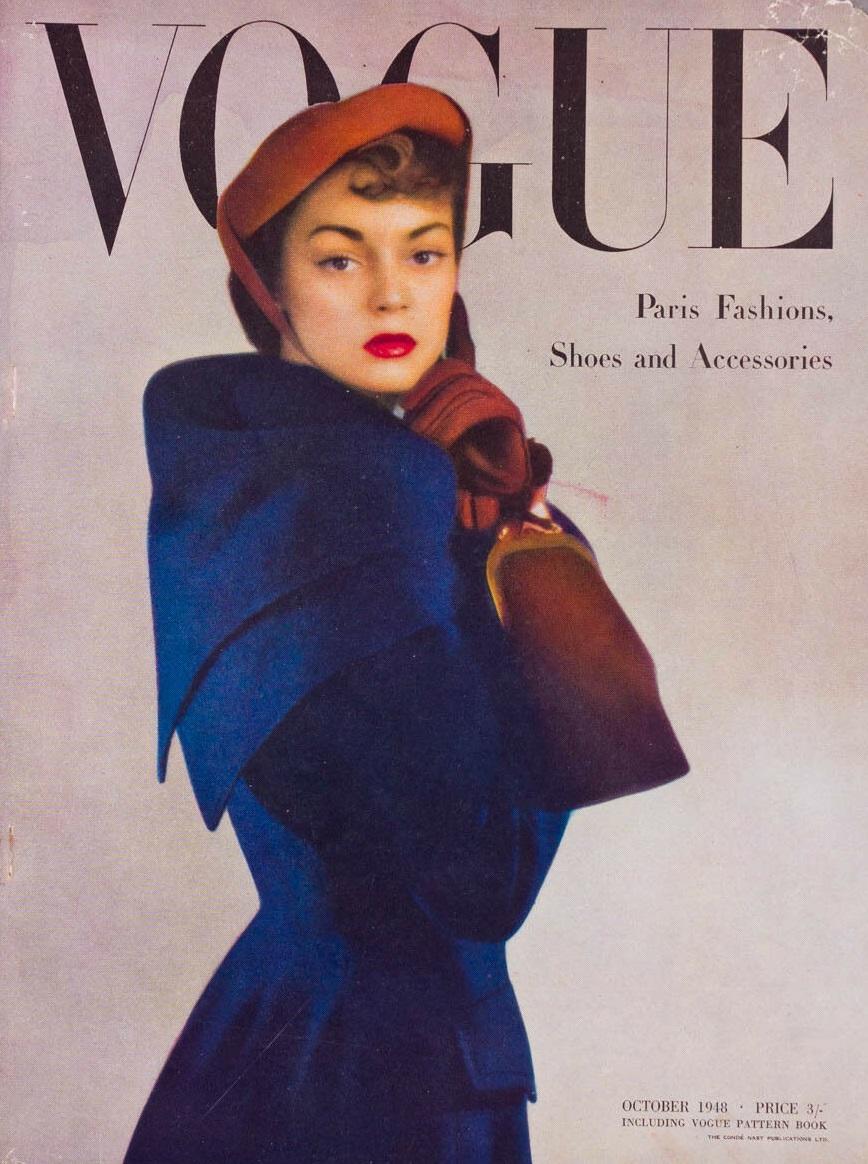 British Vogue Cover October 1948