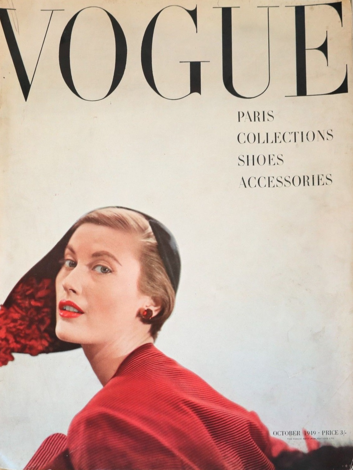 British Vogue Cover October 1949
