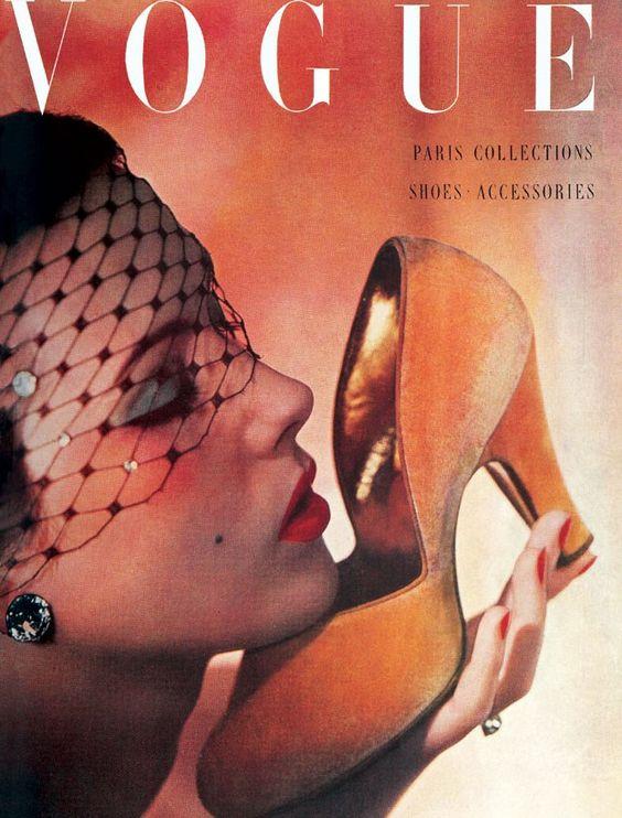 British Vogue Cover October 1950