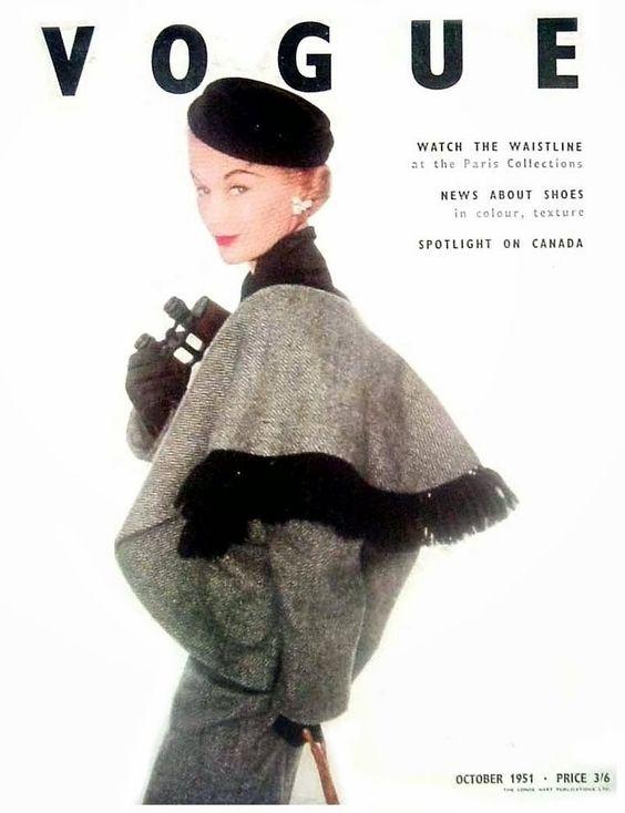 British Vogue Cover October 1951
