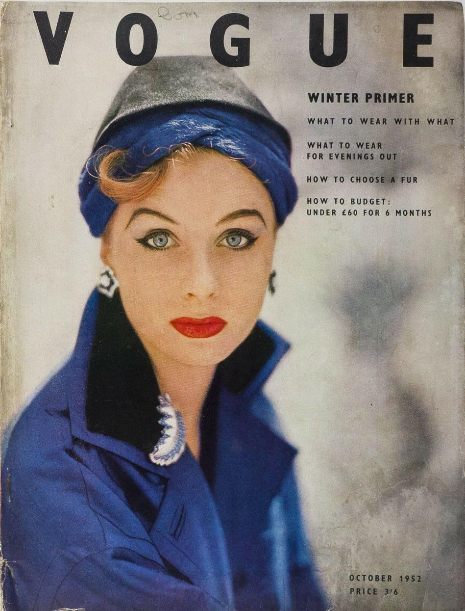 British Vogue Cover October 1952