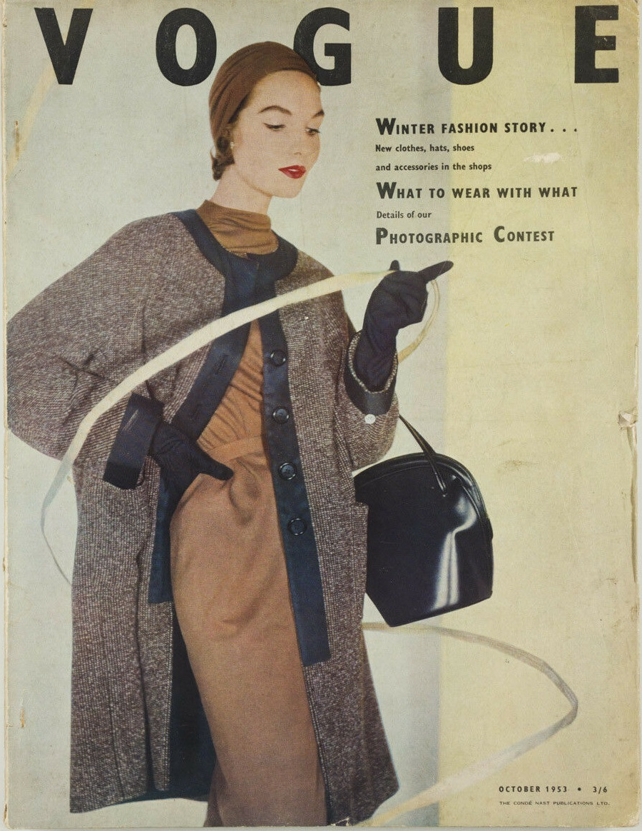 British Vogue Cover October 1953