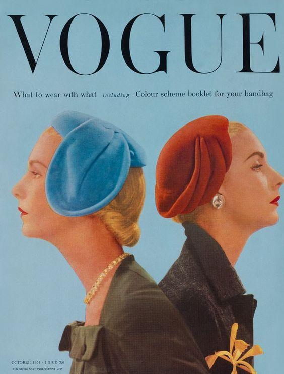 British Vogue Cover October 1954