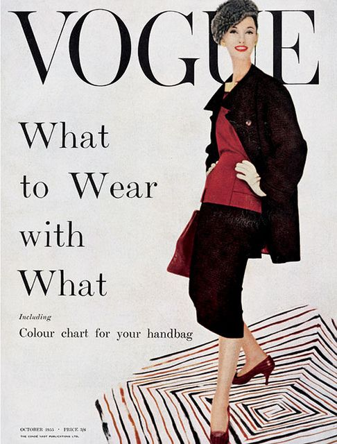 British Vogue Cover October 1955