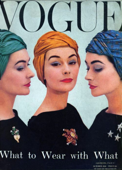 British Vogue Cover October 1956