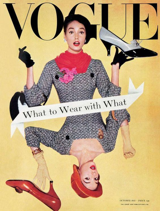 British Vogue Cover October 1957