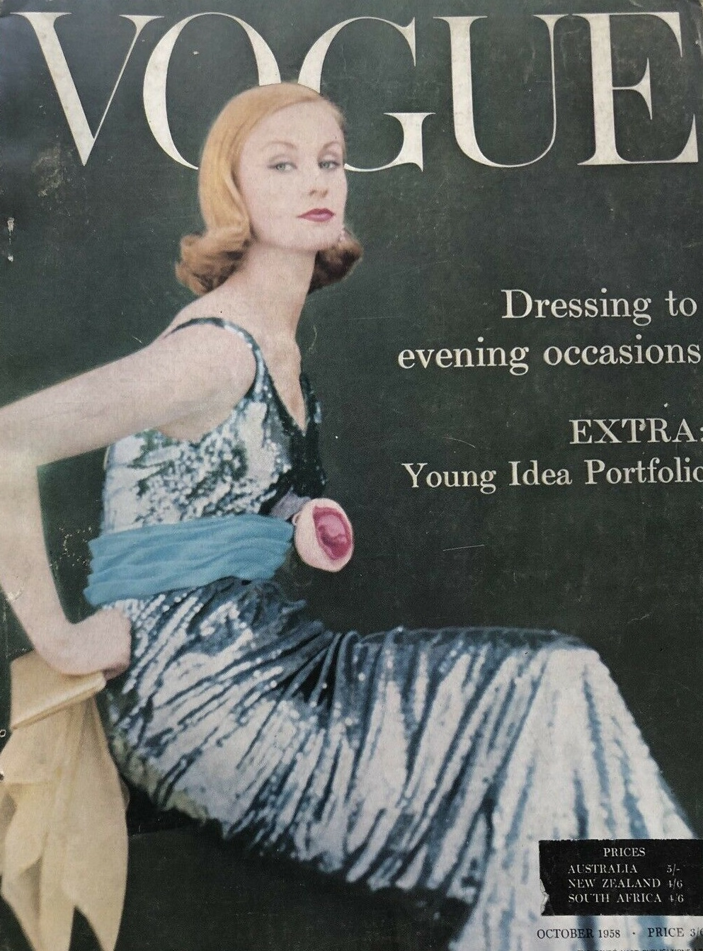 British Vogue Cover October 1958