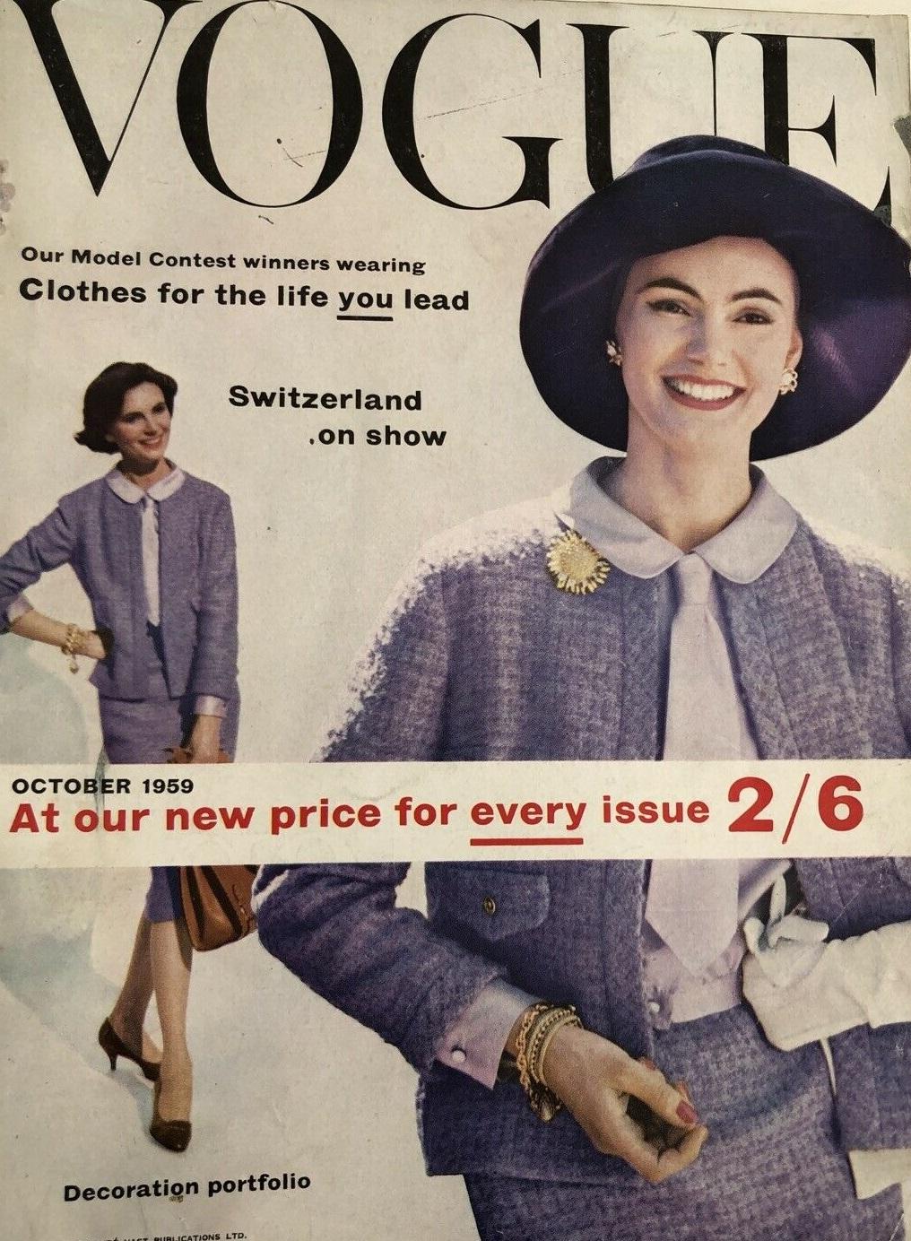 British Vogue Cover October 1959