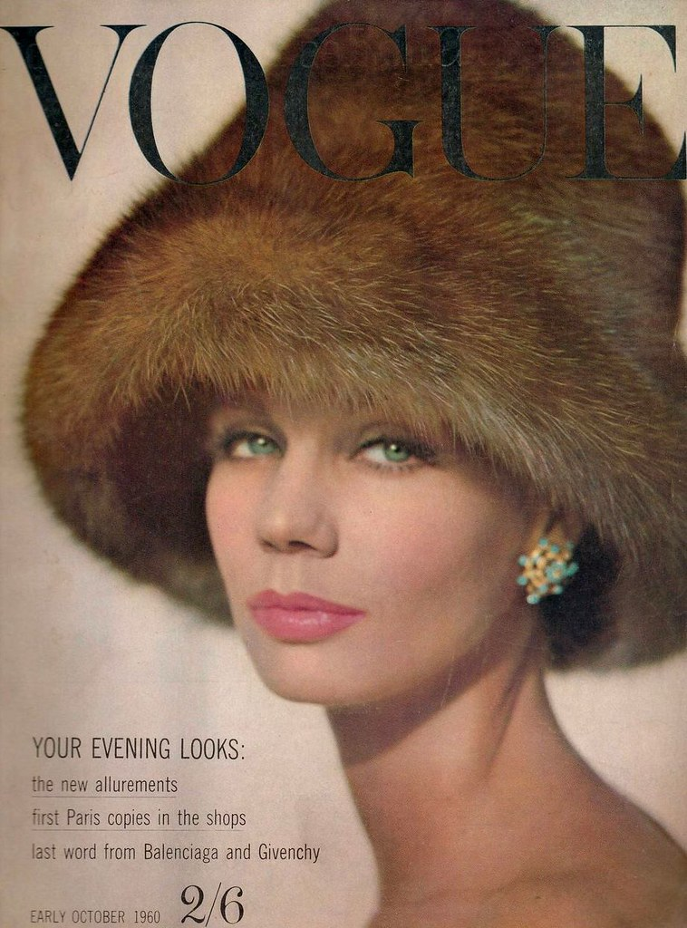 British Vogue Cover October 1960