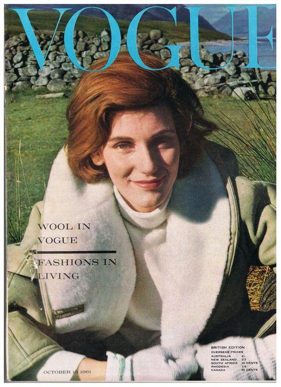British Vogue Cover October 1961