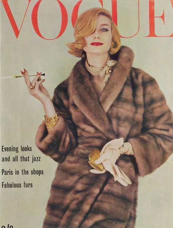 British Vogue Cover October 1961