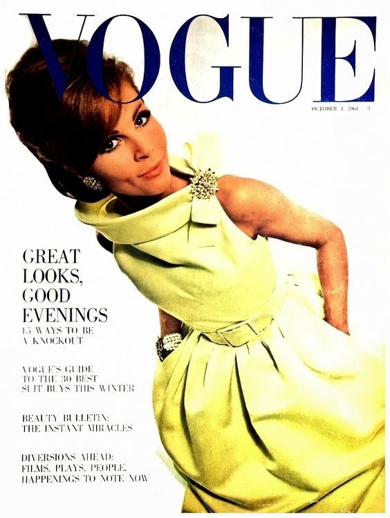 British Vogue Cover October 1964