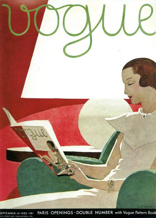 British Vogue Cover September 1932