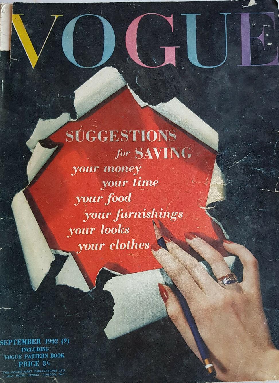 British Vogue Cover September 1942