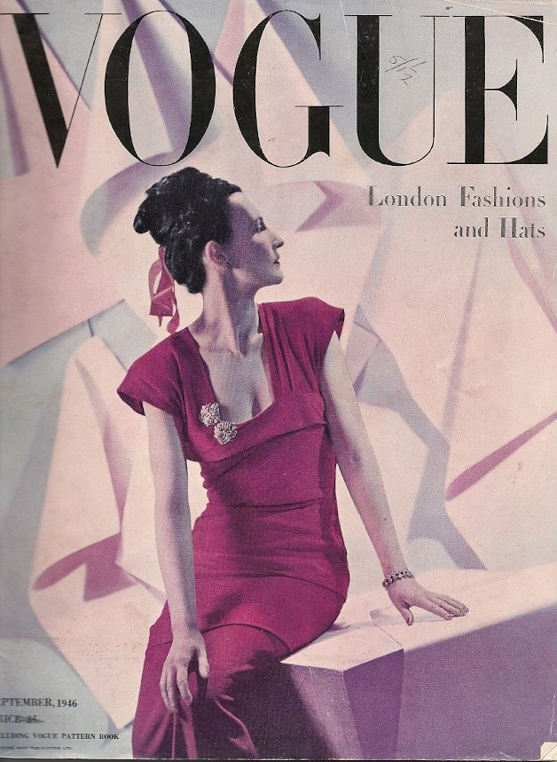 British Vogue Cover September 1946