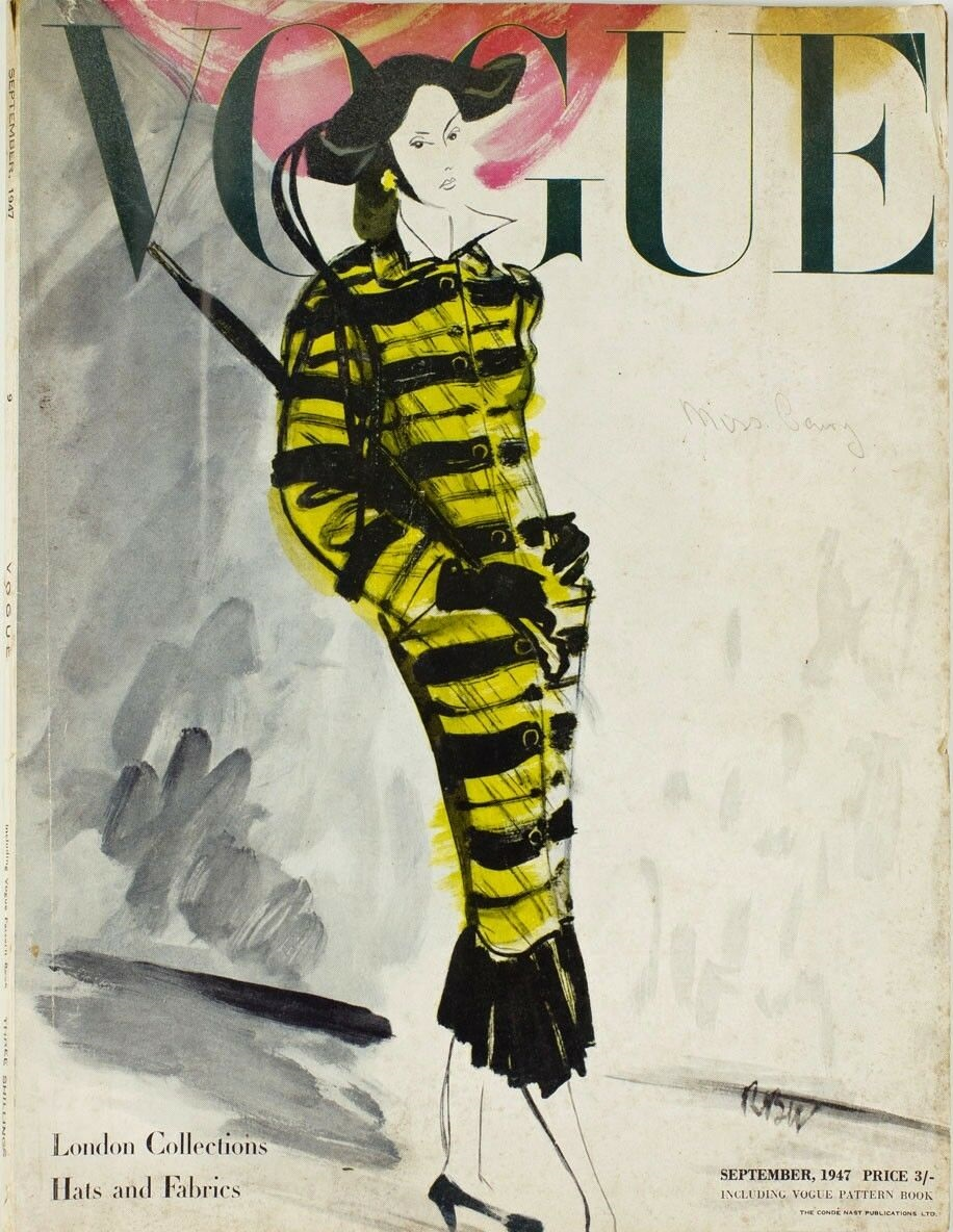 British Vogue Cover September 1947