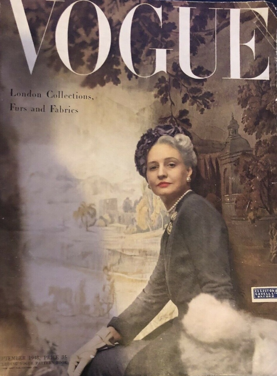 British Vogue Cover September 1948