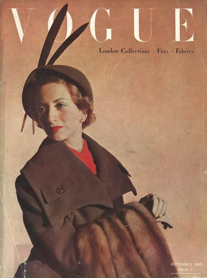 British Vogue Cover September 1949