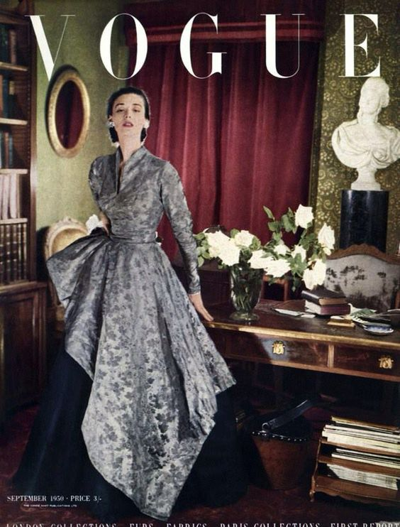 British Vogue Cover September 1950