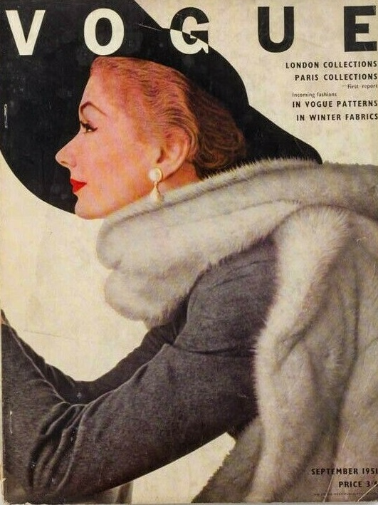 British Vogue Cover September 1951