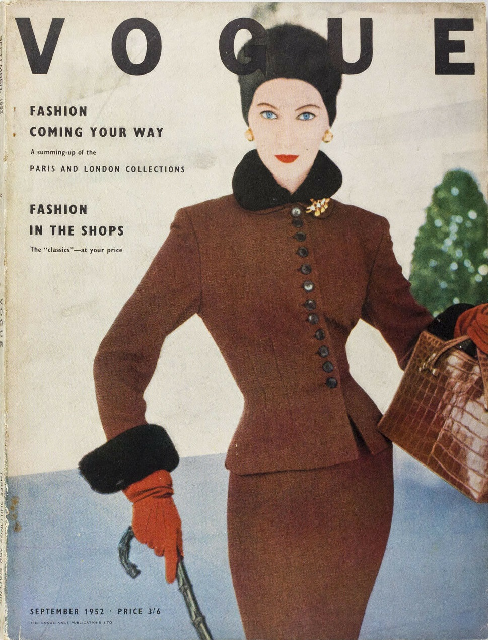 British Vogue Cover September 1952