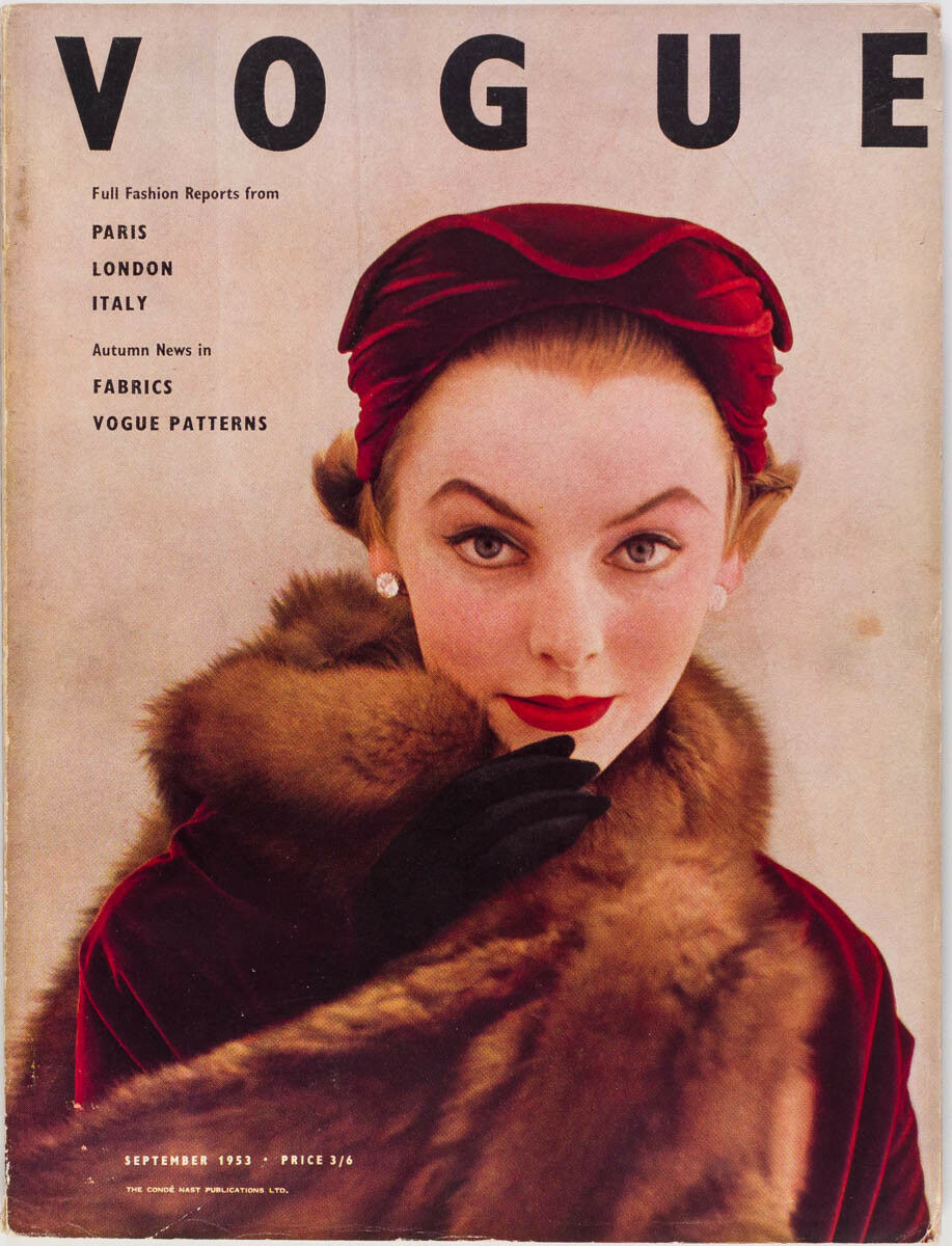 British Vogue Cover September 1953
