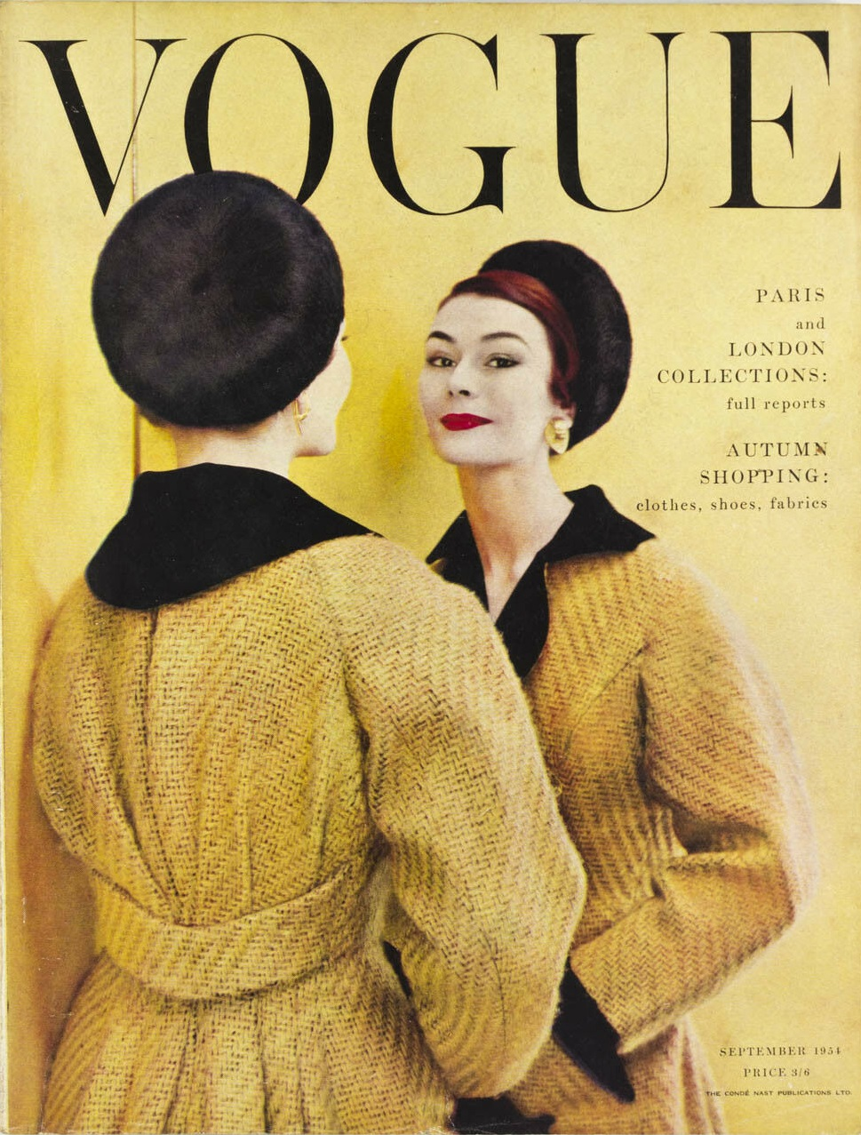 British Vogue Cover September 1954